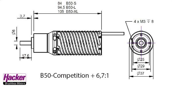 B50-8L Competition + 6,7:1 Kv 2720