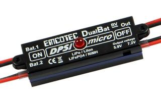 DPSI Micro DualBat 5.9V/7.2V MPX dual power supply