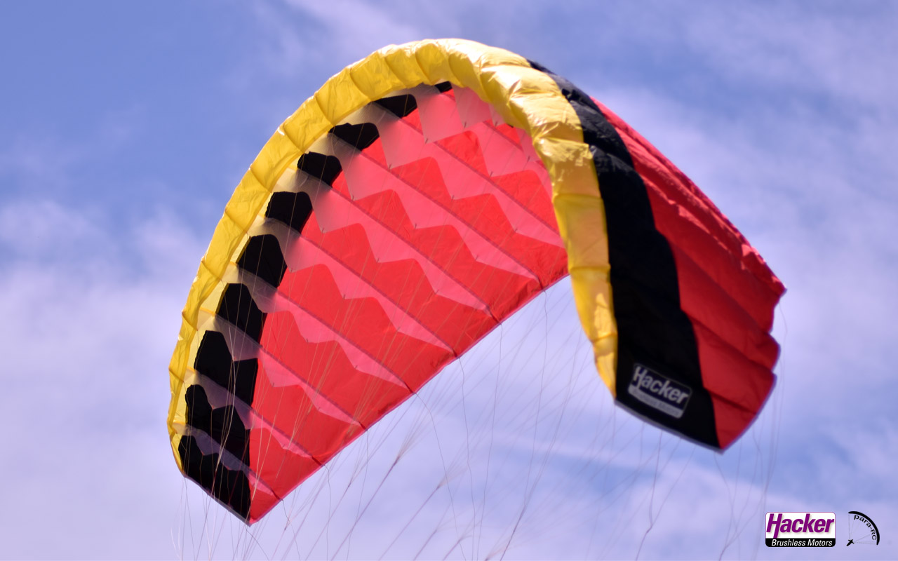 Para-RC Paraglider RC-FLAIR 2.4 - Yellow/Black/Red - Image 1