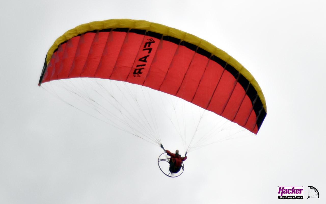 Para-RC Paraglider RC-FLAIR 2.4 - Yellow/Black/Red - Image 2