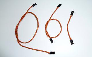 Patch cable 3 x AWG22, 3 pieces